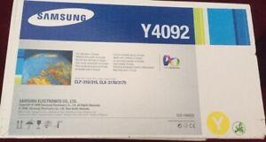 Samsung Genuine Original Black Cyan Magenta Yellow C4092 K4092 x 2, Y4092 M4092
