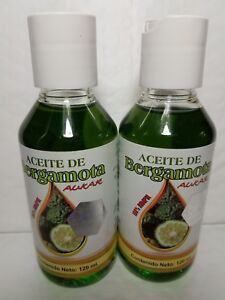 2 BERGAMOT OIL 100 % NATURAL FOR BEARD AND HAIR 120 ML EACH
