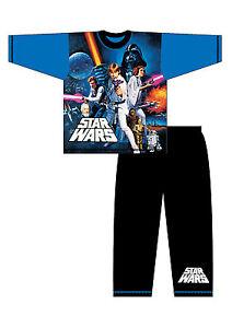 Boys Official Star Wars Pyjamas long age 4-10 Years
