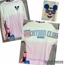 """Disney Vacation Club Dvc Glitter Mickey Pink Ombré """"Welcome Home� Spirit Jersey"""