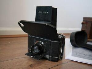 Graflex National series II folding 120 roll film camera Tessar lens