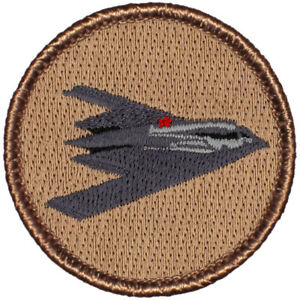"""Stealth Bomber Patrol Patch - 2"""" Round Embroidered Patch"""