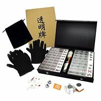 Transparent Mahjong Tiles Full Set New Ver. JUST style F/S w/Tracking# Japan New
