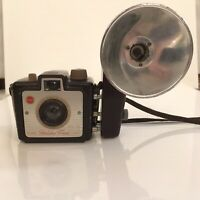 Vintage Kodak Brownie Holiday Flash Camera with Shoulder Strap And Flash