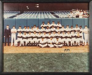 1977 Yankees World Series Champs Team Signed Large Photo Thurman Munson PSA DNA