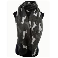 """Dachshund Dog Wrap Shawl Scarf 77x33 """"Dog Print Black Weimaraner Rescue Charity"""