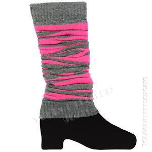 Slouch Leg Warmers Women's Striped Socks Legging Winter Fashion Colors Knee High