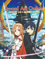 DVD Sword Art Online Season 1 + 2 Complete Box Set TV 1-49 End English Dubbed