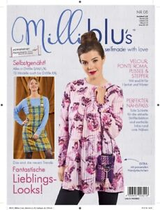 Milliblu´s 8 Schnittmuster Zeitung Damen Gr. S / M / L / XL + 12 Modelle bis XXL