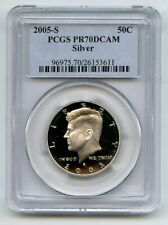 2005 S 50C Silver Kennedy Half Dollar PCGS PR70DCAM
