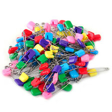 100 Pcs/Lot  Mixed Color Safety Locking Baby Cloth Nappy Diaper Craft Pins