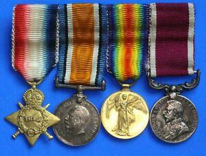 Miniature WW1 medal group includes Long Service & Good Conduct *[20283]