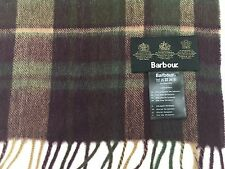 Barbour Tattersall Check Scarf Cashmere / Lambswool Heather