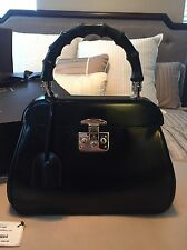 Gucci Lady Lock Bamboo Top Handle Satchel Bag Large Couture