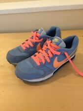 Nike MD Runner 2 Ladies Blue Trainers Size uk 3 eur 35.5