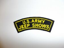 a0368 WW 2 US Army Jeep Shows tab Special Service Show R22E