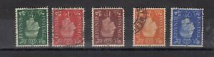 GB KGVI 1937 Set To 2 1/2d Inverted SG462wi/466wi FU J5421