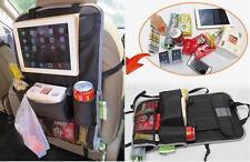 Asiento trasero Organizador del asiento de coche soporte tablet viaje bolsa de almacenamiento Multi Bolsillo-BK