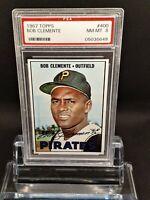 1967 Topps #400 Roberto Clemente - HOF- Pirates - PSA 8 - NM-MT - 05036649 - SCA