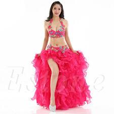Sexy Belly Dance Dancing Costume Waves Skirt Dress with slit Skirt Dance Wear