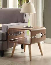 Jual Furnishings JF704 Curved Retro Lamp / Side / End Table Walnut & Ash Spindle