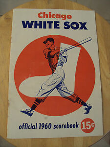 VTG 1960 Baseball OFFICIAL Scorebook~CHICAGO WHITE SOX vs Kansas City~Ephemera~