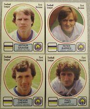 Leeds United 4 x PANINI'S CALCIO 82 STICKERS Figurina PANINI