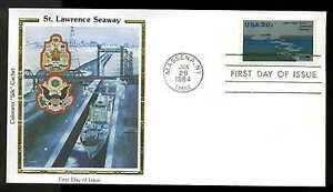 "U.S. FDC #2091  Colorano ""Silk"" Cachet Massena, NY St. Lawrence Seaway"