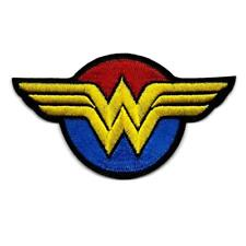 """WONDER WOMAN IRON ON PATCH 4"""" Female Comic Book Superhero Embroidered Applique"""