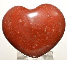 "2.9"" Brecciated Red Jasper Puffy Heart Polished Crystal Quartz Mineral - India"