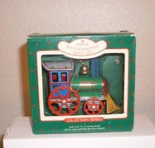 Hallmark 1987 Tin Locomotive Ornament # 6 in Series New Condition Boxed