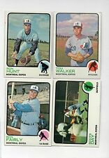 4-1973 topps lot expos 41 tom walker 125 ron fairly 149 ron hunt 307 boots day
