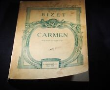 CARMEN OPERA IN FOUR ACTS BY GEORGES BIZET FROM 1923.