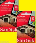 2 x Sandisk Cruzer Fit 16GB USB Sticks SDCZ33-016G-B35 NEU&OVP * SPARPACK *