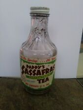 Vintage Pappys sassafras concentrate tea antique advertising