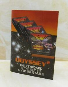 Odyssey 2 Video Game Booklet! Vintage 1982 Manual Take a Step in a Time Machine