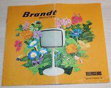 BRANDT catalogue de 1976 - Téléviseurs