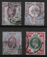 KEVII Small Group-FU-Fresh Colours-1&1/2d.,5d.,9d.,1s.  Cat.£130+  Ref.0968