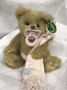 "2007 Bearington Bear Baby Collection 10"" LIL' SUCKER BEAR Pink Blanket PINKY NEW"