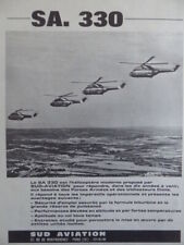 2/1968 PUB SUD AVIATION HELICOPTERE PUMA SA.330 HELICOPTER ORIGINAL FRENCH AD