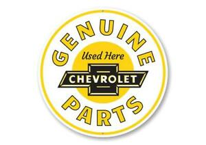 Chevy Genuine Parts Car Sign, Chevy Sign, Novelty Car Sign, Garage Aluminum Sign