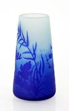 Signed dark blue acid-cut cameo vase by André Delatte, 1920s [11905]