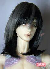 BJD Doll Hair Wig 9-10 inch 22-24cm Black grey 1/3 SD DZ DOD LUTS