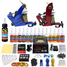 Complete Tattoo Kit 2 Machine Guns Equipment Power Supply 28Ink Colors TK210