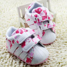 Baby Girl Pink Camo Crib shoes Soft Sole Sneakers size 0-6 6-12 12-18 Months/K