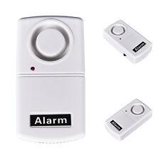 1Pc Wireless Home Security Remote Control Vibration Alarm Window Door Glass XC
