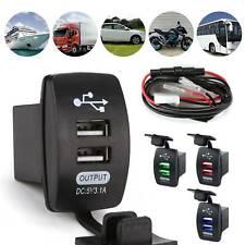 3,1A Wasserdicht Auto Steckdose USB Ladegerät Buchse 12V für Motorrad KFZ Einbau