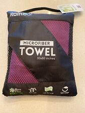 "Rainleaf Microfiber Towel 30*60"" -SportsTravel Beach Fast Drying Super Absorbent"