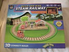 Build and Ride Steam Railway With Motorised Action Never Played Box Damaged