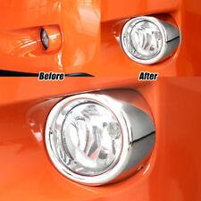 Front Fog Light Lamp Bumper Chrome Cover Trim Ring For Subaru XV Crosstrek 2013